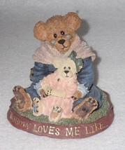 Boyd Bearstone Resin Bears Nana Quignapple W/Taylor Figurine #228331 2E - $8.56