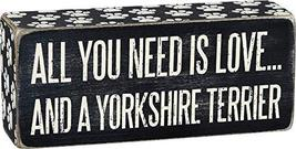 Primitives by Kathy 24982 Paw Print Trimmed Box Sign, 2.5 x 6-Inches, Yorkshire - $11.50