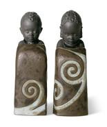 Lladro 01012502 Salt & Pepper Shakers Pulse of Africa Porcelain Figurine New  - $225.00
