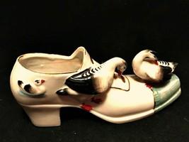 German Miniature Shoe with Ducks Vintage Porcelain Rare Piece 6.5 inches... - $78.20