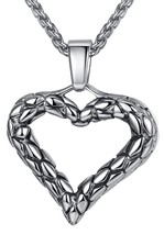 "Stainless Steel Open Heart Pendant Necklace, Unisex, 24"" Link Chain, aap079 - £23.79 GBP"
