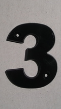 100 - New #3; Black 3.25 inch House Hotel Door Mailbox Multi-use Plastic Numbers - $110.00