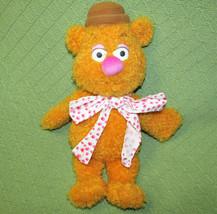 "15"" Fozzie Bear Muppet Disney Stuffed Animal Doll Sesame Street Pink Polka Dot - $27.12"