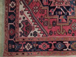 Tribal Inspired Olde Runner Persian Hand-Knotted 2' x 11' Red Heriz Wool Rug image 7