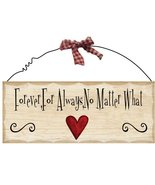 Primitive Wood Sign WP308-Forever,For Always, No matter what - $4.95