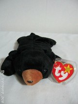 '98 TY ORIG Beanie Baby~BLACKIE the BEAR~5TH Gen HT~6TH Gen TT~MWMT~#4011 - $4.88