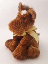"MARY MEYER brown HORSE yellow bow Floppy Plush Stuffed Animal Toy 11"" - $10.57"