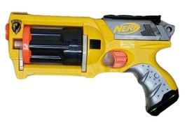 Yellow Nerf N-Strike Maverick Rev-6 Soft Foam Dart Toy Gun Dart Blaster 2004 - $19.59
