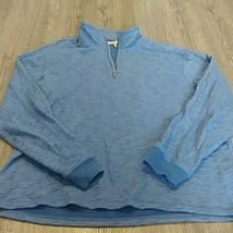 Calvin Klein Jeans Mens blue 1/4 Zip Pullover Sweater xl polyester - $24.74