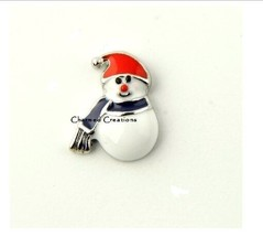 10pc Snowman With Scarf And Hat Christmas Holiday For Floating Charm Lockets - $8.90