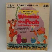 Vintage Walt De Disney Winnie L'ourson Venteux Day Record 45 RPM Record ... - $30.42