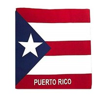 PUERTO RICO FLAG BANDANA Cotton Scarves Scarf Head Hair Neck Band Skull ... - $10.45