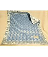 Elegant Baby Security Blanket Solid Light Blue Satin Swirl Lovey  - $24.73