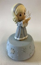 Precious Moments Girl With Glass Star Music Box Plays Silent Night 2007 ... - $27.67