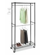 Supreme Double Rod Garment Rack, Storage, Organize,Hanger,Wheel,Closet, ... - $89.49