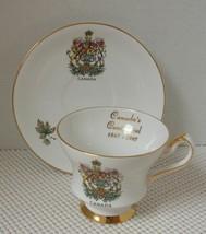 ROYAL GREGG China TEA CUP & SAUCER - CANADA CENTENNIAL 1867-1967 Coat of... - $11.63