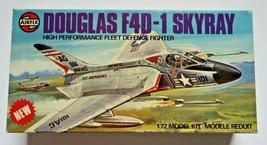 Airfix Douglas F4D-1 Skyray USN Fighter 1/72 Model Kit Vintage UK Complete - $18.99