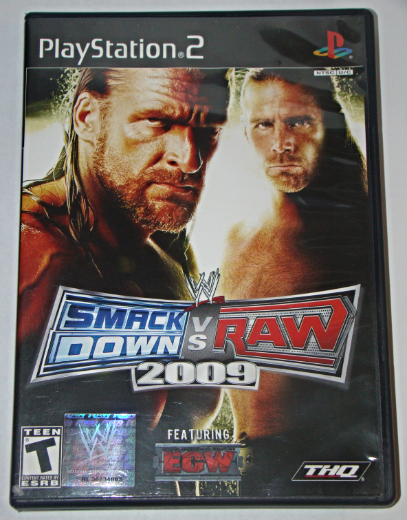 Playstation 2 - THQ - WWE SMACK DOWN VS RAW 2009 Featuring ECW (Complete)