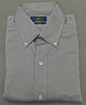 Club Room Gray Pinpoint Regular Fit Long Sleeve Dress Shirt - 14 1/2 - 3... - $19.95
