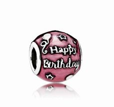 Pandora Birthday Celebration Charm, Transparent Cerise - $24.99