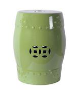 """18"""" Ceramic Garden Stool Bright Green - D68136 - $98.99"""