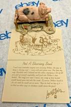 """Lowell Davis """"Not a Sharing Soul"""" Figurine 1989 Schmid Pig Trough 92053 Fox Fire - $47.01"""