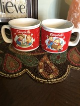 Campbells Kids Soup Cup Mug – 2002 Spring & Fall Harvest Scenes Lot of 2... - $9.49