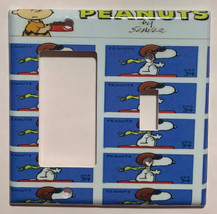Peanuts Snoopy US Stamps Light Switch Power Outlet wall Cover Plate Home Decor image 3