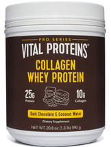 Vital Proteins Dark Chocolate and Coconut Water Collagen Whey Protein  - $47.99
