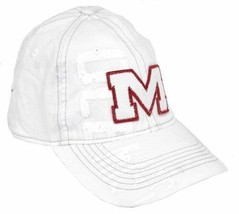 Ole Miss Rebels Slouch Fitted Hat by Adidas  EI55Z - White & Distressed - $5.00