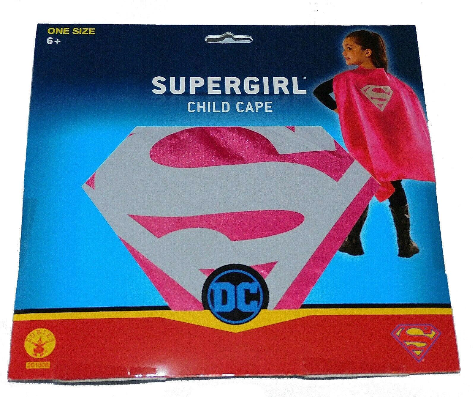 Nuevo Chicos Chicas Dc Comics Disfraz Halloween Rosa Plata Supergirl Capa