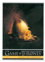 Game of Thrones trading card #88 2013 Checklist - $4.00