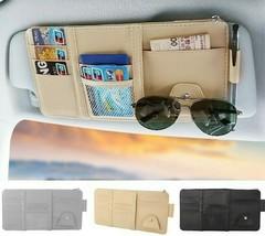 Organizer Car Sun Visor Storage Card Leather Holder Bag Glasses Case Pou... - $11.17