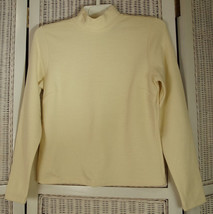 "ANN TAYLOR Ivory Mock Turtleneck Jumper SP 34"" Bust Petite Tailored Zip Sweater - $21.43"