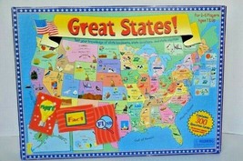 Great States Geography Educational Board Game American Locations Capital... - $9.89