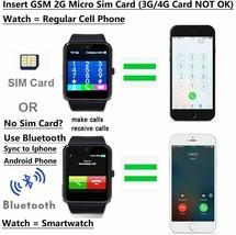 Reloj Inteligente Funcion Con Camara Para iPhone Android Samsung Galaxy Note - $32.18