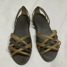 Crocs Huarache 14121 Sandals Brown  Women's Size 7 M Brown Espresso Stra... - $18.33