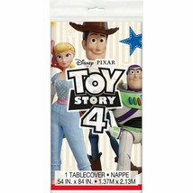 Toy Story 4 Tablecover Plastic 54 x 84 Buzz Woody Bo - $8.31