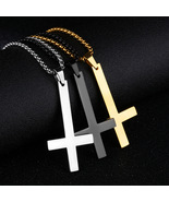 Men Link Chain Necklaces Pendant Cross Solid Color Korean Choker Jewelry... - $12.90