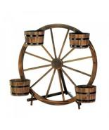 Wagon Wheel Barrel Planter Display - $104.97