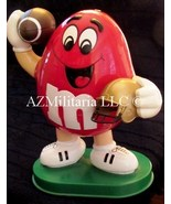 M&Ms Red Football Player Candy Dispenser (1995) No Candy Included - $14.75