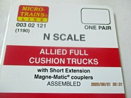 Micro-Trains Stock # 00302121 (1190) Allied Full Cushion Trucks Short Extension image 2