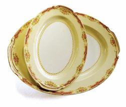 "Set of Noritake Platters Occupied Japan Orleans Shape 11 7/8"" Oval Servi... - £53.27 GBP"