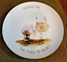 """Precious Moments Collectors Plate """"Blessed Are The Pure In Heart"""" 1987 - $12.99"""