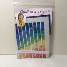 "Color Wheel Quilt Pattern Quilt in a Day 63"" x 71"" - $11.64"