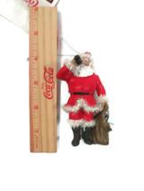 Coca-Cola Chiristmas Ornament Santa Drinking Coke Sparkling Trim - $6.19