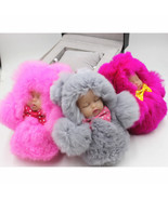 Keychain 12cm Cute Sleeping Baby Swollen Pom Pom Keyring Bag Bag for Wom... - $6.99