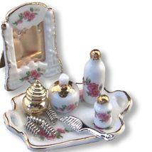 DOLLHOUSE Boudoir Set 1.678/5 Reutter Porcelain Lisa Makeup Miniature - $31.91
