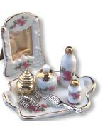 DOLLHOUSE Complete Boudoir Set 1.678/5 Reutter Porcelain Lisa Makeup Miniature - $29.09