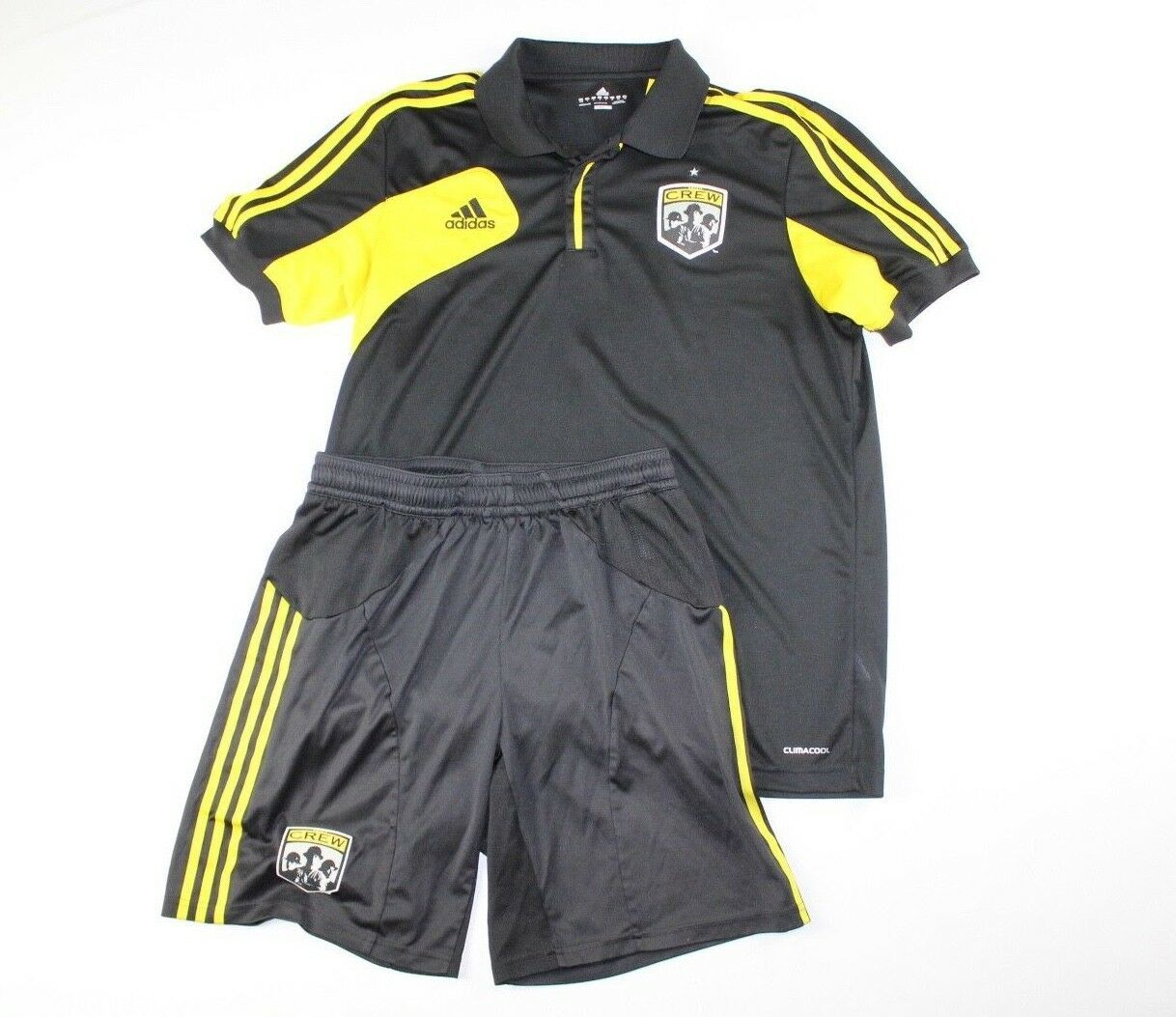 Adidas Mens Large ClimaCool Columbus Crew MLS Soccer Jersey Shorts Kit  Black -  72.22 50c7fb746